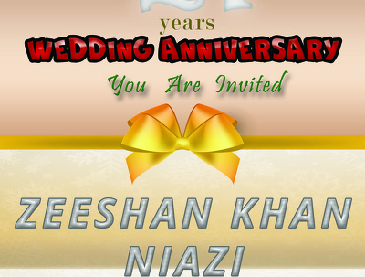 Design invitation card of wedding or birthday party