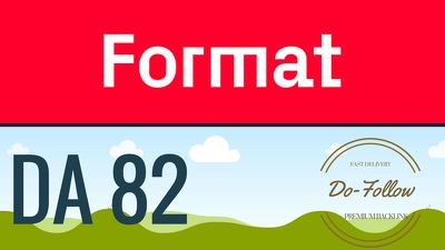 Get you a Dofollow guest post on Format Format.com (DA 82)