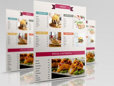 Design Fast Food/ Restaurant/Hotel/Cafe Menu Card