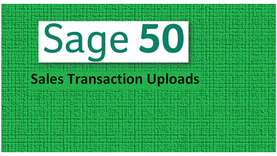 Create a Sage Excel upload file for Sales transactions
