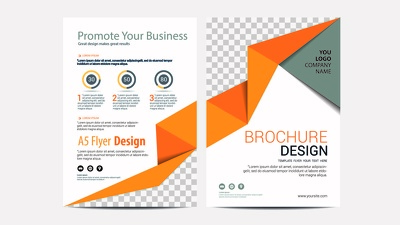 Design a double sided A5 Flyer with stock images and infographics