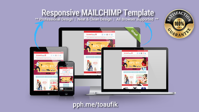 Design Responsive & Editable MAILCHIMP Email Template