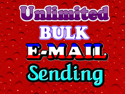 Send unlimited bulk EMAIL with html, text, images with reports