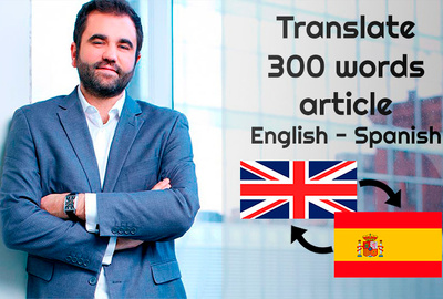 Translate from Spanish to English 500 words document in 1 day
