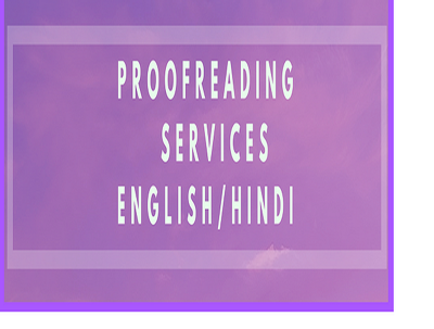 Proofread your document in Hindi (1000 words)