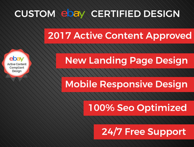 Design Mobile Responsive Ebay Store & Auction Listing Template Professional