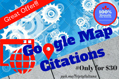 Build 30 google local citations or business listing