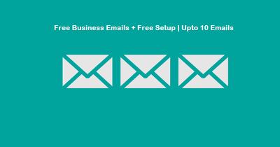 Free Business Emails + Free Setup | Upto 10 Emails | Get name@yourwebsite.com