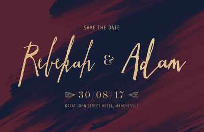 Design beautiful Wedding Invitation or Save the Date in 2 days