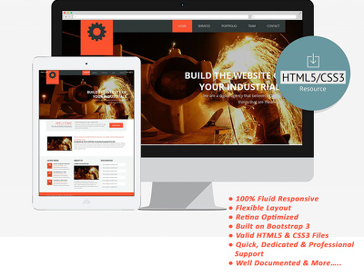 Design/Develop fully secured & responsive HTML5, CSS3 Webpage for Factory & Industry!