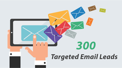 Collect 300 targeted email leads including their info