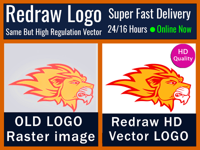 Redraw or Convert Logo to High Regulation Vector Logo
