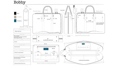 Create a bag or accessory design along with a technical drawing from your concept