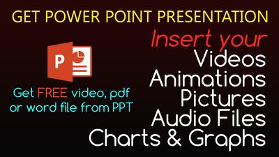 Make PowerPoint presentations