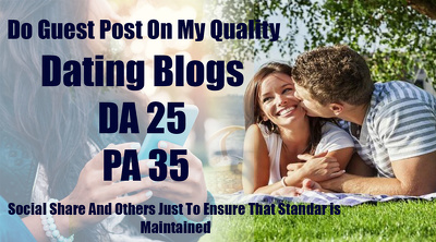 Do Guest Post On My Quality Dating Blogs