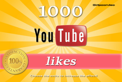 Get you 1000 YouTube Likes with Super Fast speed