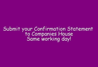 File your company's Confirmation Statement at Companies House (Annual Return)