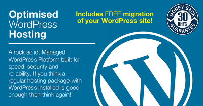 Provide 12 months optimised WordPress web hosting & 10GB email