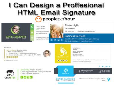 Design a clickable HTML email signature