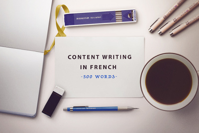 Write a high-quality article or blog post in French - 500 words of great content!
