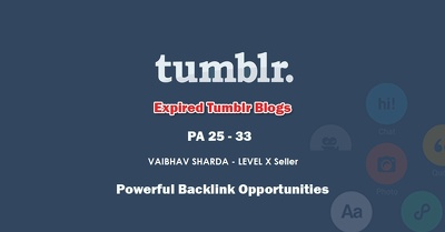 Get 50+ Registered High PA 30-33 Tumblr Domains