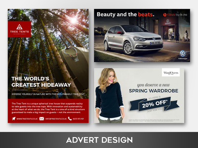 Create a newspaper/magazine/social media advert design
