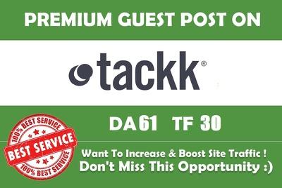 Write and dofollow guest post on tackk.com DA61 PA67 TF23 CF47