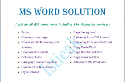 Type from PDF and format MS word document (50 pages)