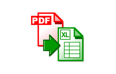 Convert your PDF bank statement to excel format