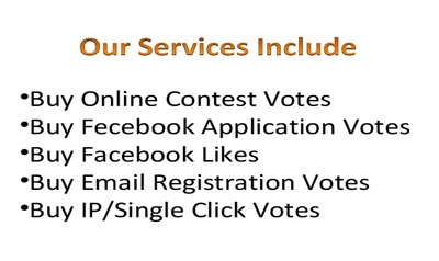 250 different IP votes, single ip votes for any contest or website or prodect