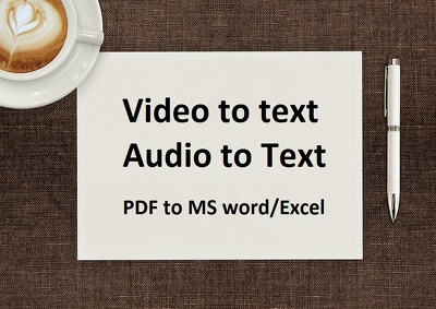 convert Your Video Or Audio Or Pdf File To Ms Word Format
