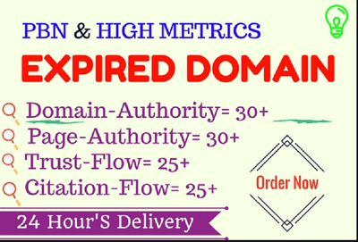 I Will Find 4 (Four) Expired Domains With High Metrics For PBN