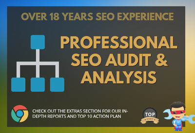 Full SEO audit and provide a top 10 SEO strategy action plan