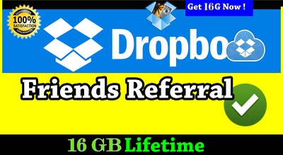 Upgrade your dropbox up to 16 GB permanently