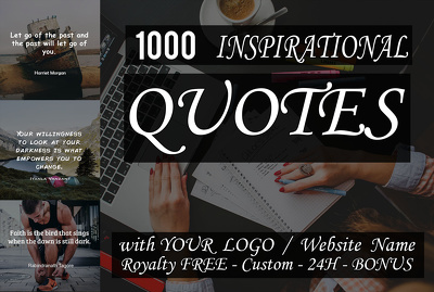 Design 1000 Inspirational Quote Images With Your Logo or website In 24h