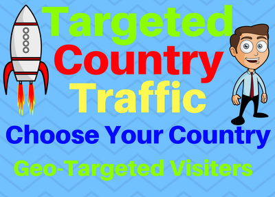 Provide You 3000 Targeted Country Traffic Choose your country