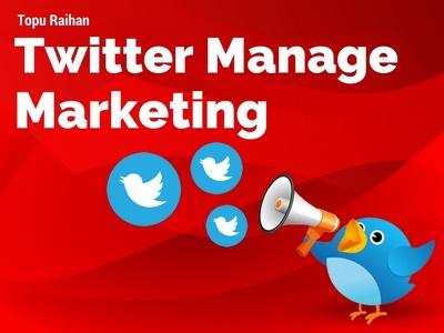 Manage Twitter profile