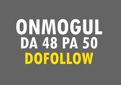 Skyrocket your ranking with HQ backlink on Onmogul DA48