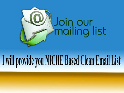 Collect 50k Niche Based Clean Email List For your Business