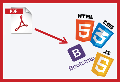 Convert PDF to HTML  (Html5, Css3, Js, Bootstrap)