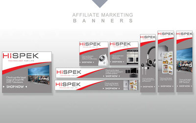 10 affiliate marketing banners / digital marketing banners in various size