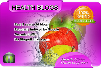 Publish Guest Post on Health Blog DA 80 with DoFollow Backlink