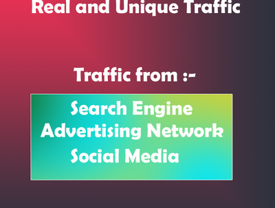 Provide Real 41,000 + Web Traffic WORLDWIDE from Search Engine and Social Media