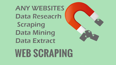 1000 records data reseacrh/ scraping/ data mining/ data extract/ from any websites