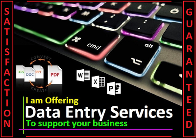Do Data entry / Convert 10 Pages of PDF and Scanned Image docs. into MS Word