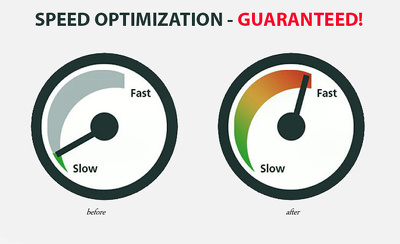 Increase your site speed and loadtime to the high 80s