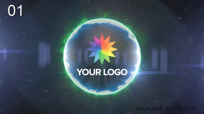 Make 2 awesome logo reveal videos / logo stings (50 samples)