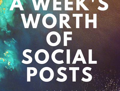 Write a week's worth of social posts for your selected social network