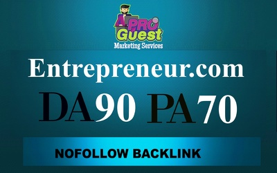 publish a FEATURED guest post on Entrepreneur.com (DA90)