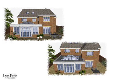 Do a set of drawings for your extension house. (planning application drawings)